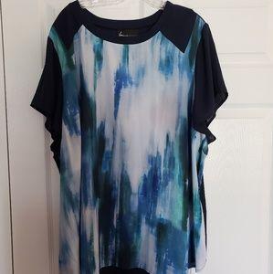 Lane Bryant chiffon blouse NWT